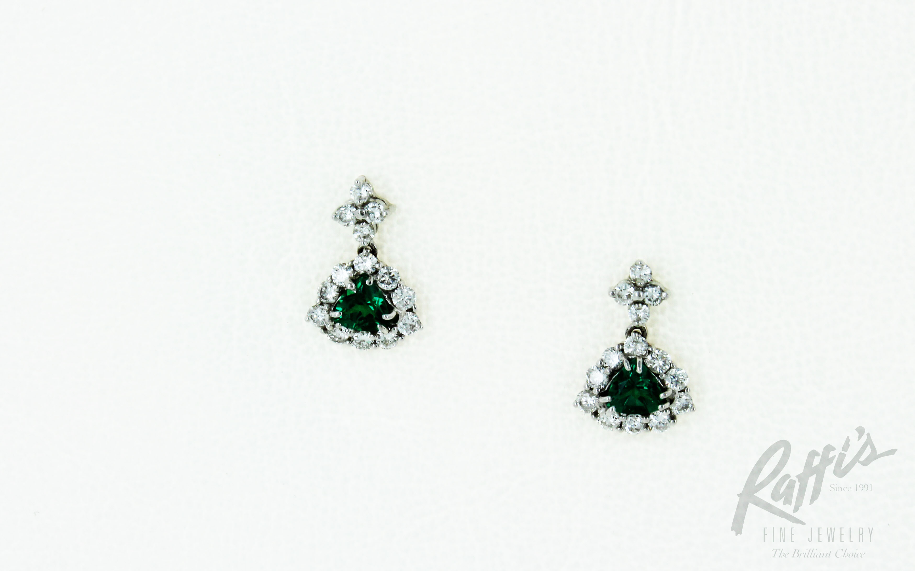 Lab created emerald earrings jared lab created emerald for Jared jewelry the loop